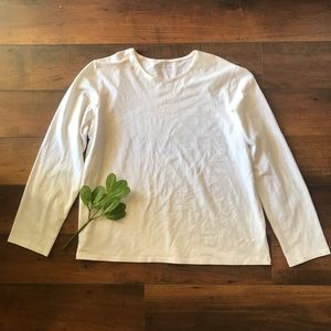 Eileen Fisher long sleeved cotton tee size XL